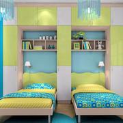 现代简约风格清新双胞胎儿童房装饰
