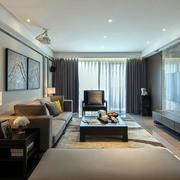 现代简约风格公寓客厅电视背景墙