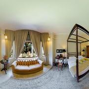 欧式风格大型卧室飘窗窗帘装饰
