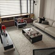 跃层简约客厅沙发装饰