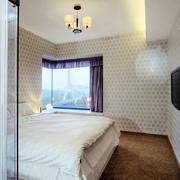 洋楼简约风格卧室背景墙装饰