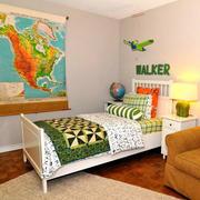 简约风格儿童房床头背景墙