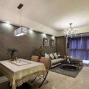 三室一厅简约风格餐厅背景墙装饰