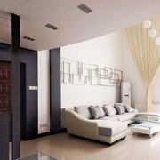 跃层简约风格客厅沙发装饰