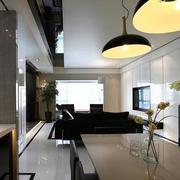 三室一厅后现代风格简约吊顶装饰