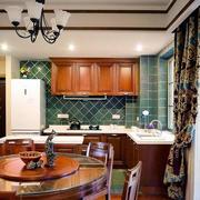 美式简约风格原木厨房装饰
