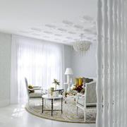 北欧风格纯色隔断装饰