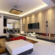 现代简约风格室内客厅吊顶装饰