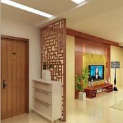 中式简约风格公寓玄关隔断装饰