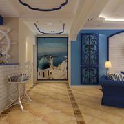 地中海风格客厅吧台装饰