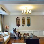 120平米房屋简约客厅背景墙装饰