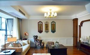 颇受欢迎的轻松小美式120平米新房家居装修效果图