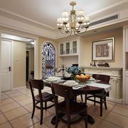 三室一厅美式简约风格餐厅装饰