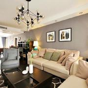 美式简约风格平房客厅沙发效果图