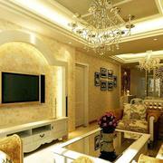 欧式奢华拱形电视背景墙装饰