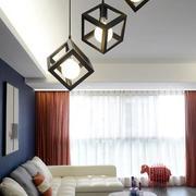 三室两厅简约风格皮制沙发装饰