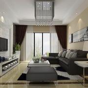 后现代风格客厅简约风格窗帘设计