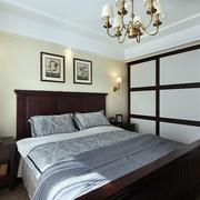 三室一厅美式简约风格卧室装饰