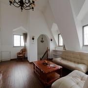跃层顶层阁楼客厅装饰
