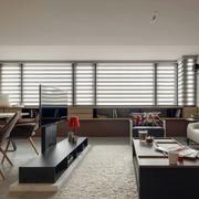 跃层简约风格客厅窗户效果图