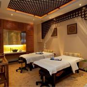美容院复古风格spa床装饰