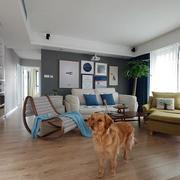 二手房简约风格客厅地板装饰