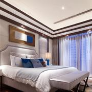 中式简约风格别墅卧室吊顶装饰