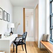 北欧风格简约书房原木地板装饰