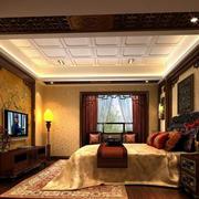 欧式风格卧室石膏板吊顶