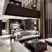 跃层简约风格客厅茶几装饰