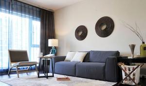 两室一厅简约风格客厅沙发装饰