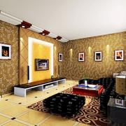 欧式 简约风格亮色系电视背景墙