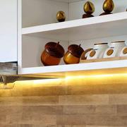 复式楼简约风格厨房置物架装饰