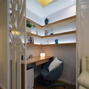 商品房简约风格书房置物架装饰