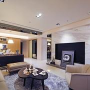 三室一厅简约风格客厅电视背景墙