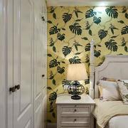 别墅简约风格卧室背景墙装饰