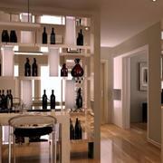 欧式整体式客厅酒柜设计