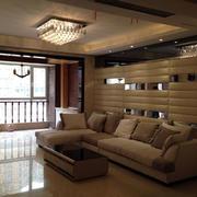 现代简约风格客厅石膏板吊顶设计