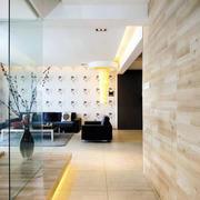洋楼客厅简约玻璃隔断装饰