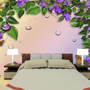 现代简约风格房间印花背景墙