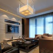 后现代风格简约双层窗帘装饰