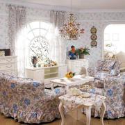 韩式田园风格客厅石膏线装饰