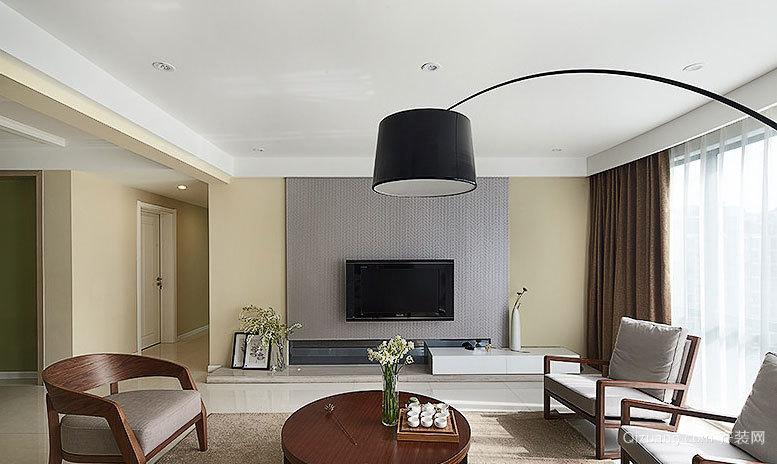 简单不失质感:现代木质混搭风格家庭室内装修效果图