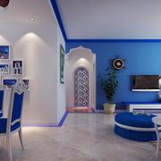 地中海风格别墅照片墙装饰