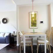 两室一厅简约风格餐厅背景墙装饰
