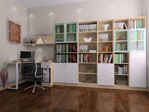 现代简约风格书房整体书架装饰