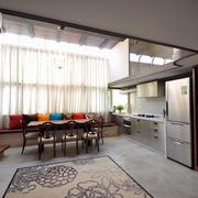 复式楼客厅简约飘窗设计