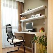 现代简约风格书房电脑桌装饰