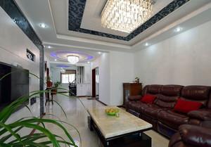 三室一厅简约客厅沙发装饰