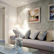 混搭风格沙发背景墙设计
